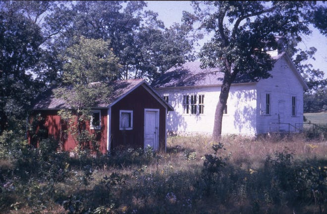 Author Jerry Apps' one-room school, west of Wild Rose, long closed.