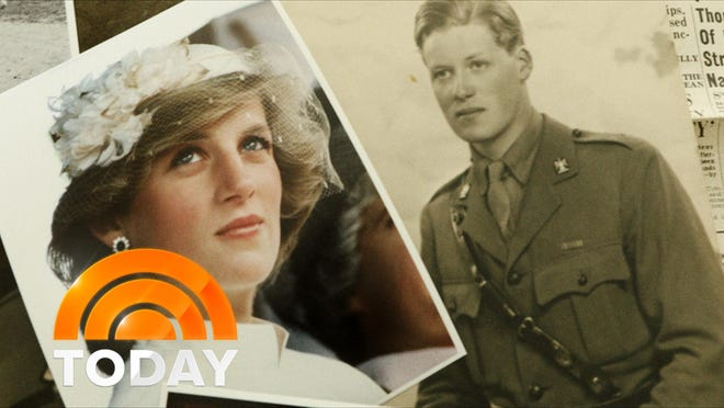 Princess Diana and her father, John Spencer, 8th Earl of Spencer, during his WWII service as Lieutenant Althorp.