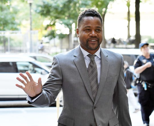 Cuba Gooding Jr., arrives for trial on his groping case, Sept. 3, 2019, in New York.