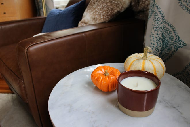 Fall's a time to shop for gourds and more at local nurseries, stop and smell a deliciously scented candle, and take time to journal in a comfy chair with a cup of tea.