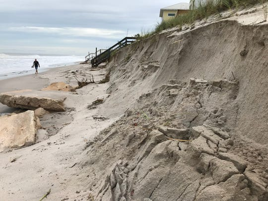 Hurricane Dorian caused heavy erosion at Shell Street in Satellite Beach.