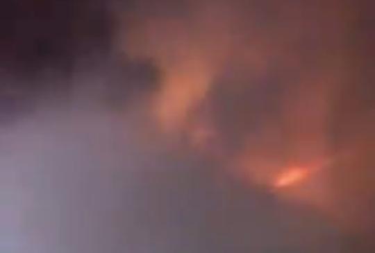 Firefighters battle a Titusville blaze that broke out during Hurricane Dorian.