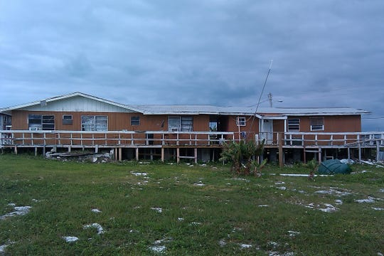This is the home where Cordell Rolle of Merritt Island grew up in Grand Cay, Bahamas. The home was destroyed by Hurricane Dorian.