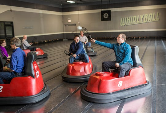 WhirlyBall is challenging enough to entertain adults, but easy enough to be an activity for the whole family – part of the appeal of this buzzy game.