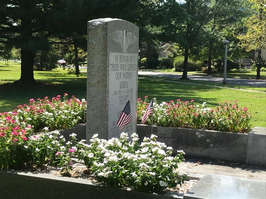 The Collingswood memorial to casualties of the Vietnam and Korean wars