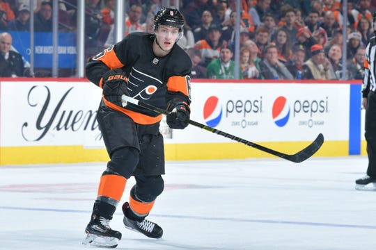 Travis Sanheim won the Pelle Lindbergh Memorial Trophy last year as the most-improved Flyer as voted on by his teammates. After signing a two-year contract, he'll be looking to improve again for a bigger payday down the road.