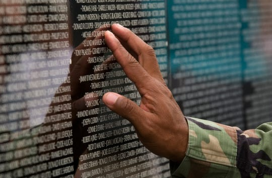Visitors to Cooper River Park in Pennsauken will be able to see and touch names on a replica of the Vietnam Memorial Wall in Washington, D.C., this  weekend beginning Friday, Sept. 6, 2019. The wall carries more than 58,o00 names of U.S. .casualties during the Vietnam War.