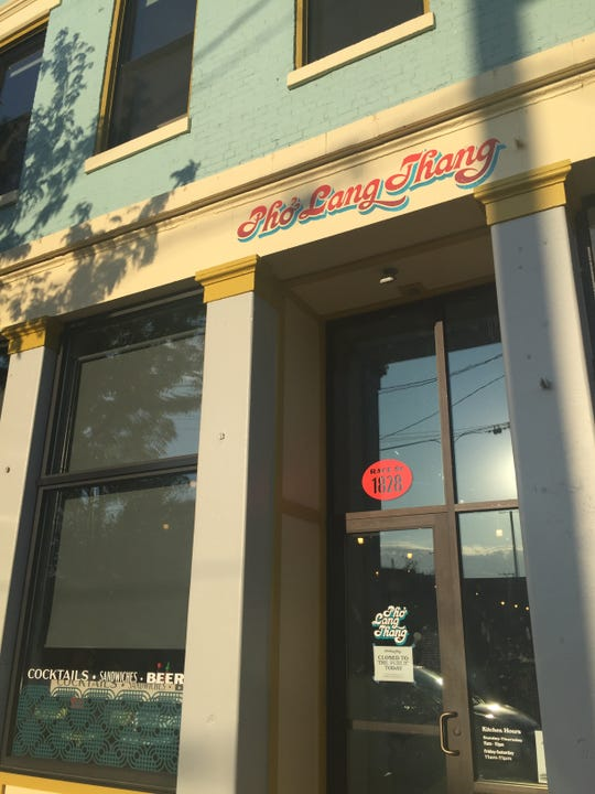 The entrance to Pho Lang Thang's new location on Race Street in Over-the-Rhine