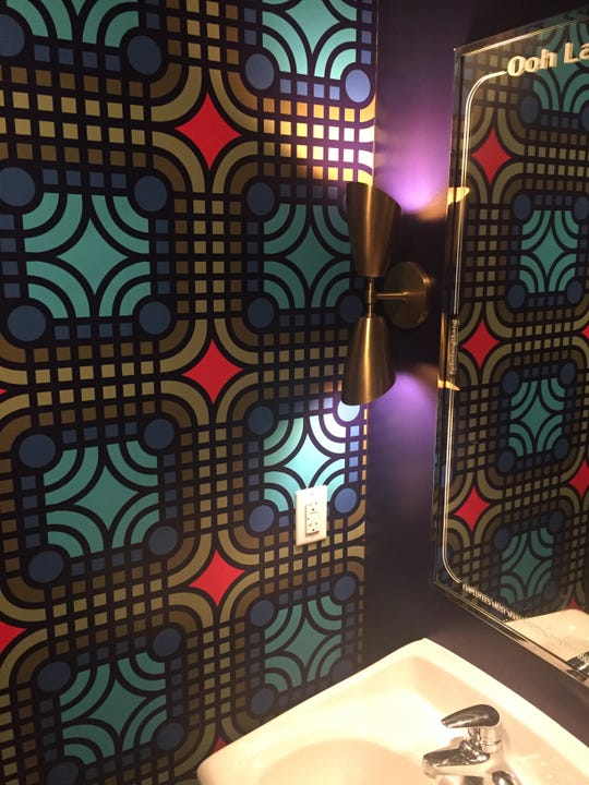 The women's room at the new Pho Lang Thang on Race Street in Over-the-Rhine