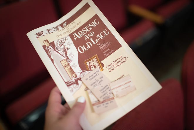 A carpet installer on Aug. 16 found a 31-year-old playbill and tickets while renovating the seating in an Austin Peay State University TV studio.