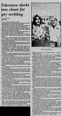 Kenneth Bunch and Tracy Bjorgum are featured in a June 1976 Daily Iowan article.