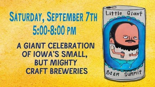 The 7th annual Little Giant Beer Summit takes place on Sept. 7 from 5-8 p.m. at el Bait Shop in downtown Des Moines.