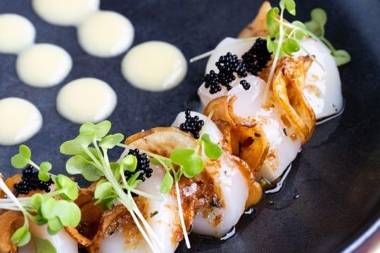 Hakkaido scallops from Blue Sushi Sake Grill.