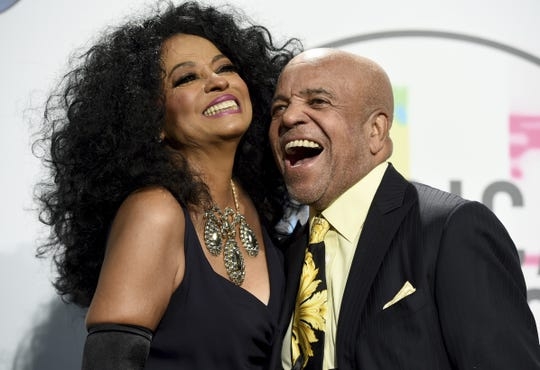Berry Gordy, here in 2017 with Diana Ross at the American Music Awards, is donating $4 million toward Detroit's Motown Museum.