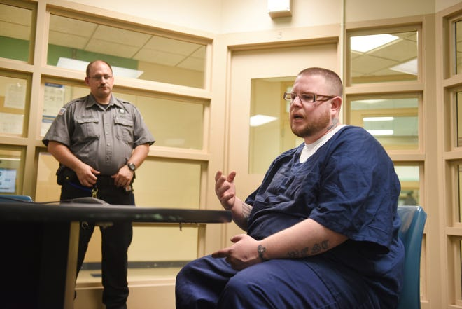 """""""It's different at other prisons than here,"""" said inmate Christopher Goike at the Woodland Center Correctional Center. """"You don't get to work with your caseworker as much (at other prisons)."""""""