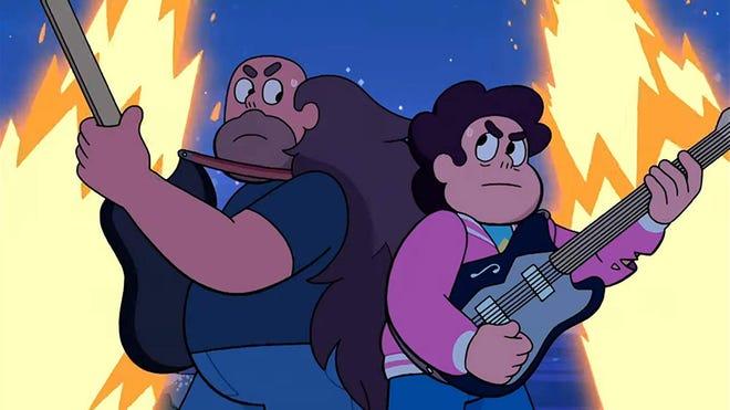"Greg and Steven Universe in ""Steven Universe: The Movie."" (Cartoon Network/IMDb/TNS)"