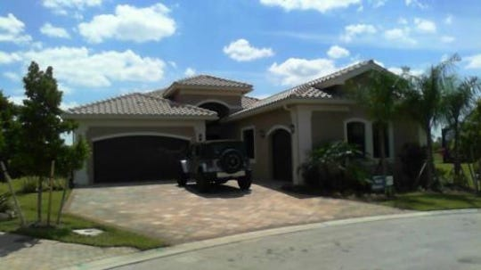 Grimes owns this home in Fort Myers, Florida
