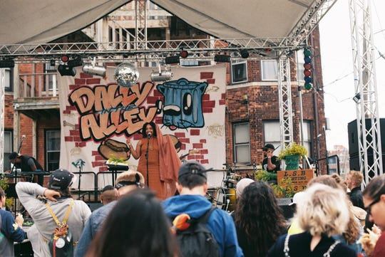 Dally in the Alley has often drawn up to 60,000 visitors to the day-long Cass Corridor festival.