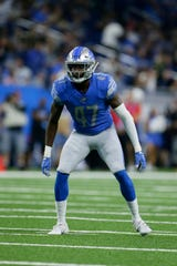 Lions' Tracy Walker registered 10 tackles in Sunday's victory over the Chargers.