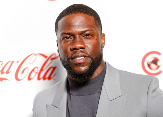In this April 4, 2019 file photo, Kevin Hart poses for photos at the Big Screen Achievement Awards. Hart has been injured in a car crash in the hills above Malibu on Sunday, Sept. 1.