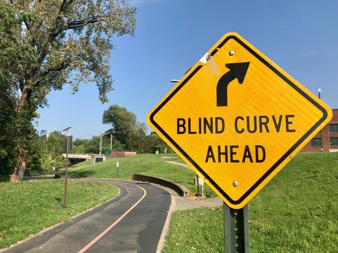 The Evansville Parks and Recreation Department has plans to add mirrors and improve warning signs at dangerous blind curve on the Greenway underneath a bridge near Franklin Street.
