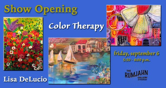 Color Therapy's reception is Friday at The Rumjahn Gallery.