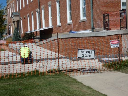 A new handicapped ramp is replacing an elevator at the Sandusky County Courthouse.