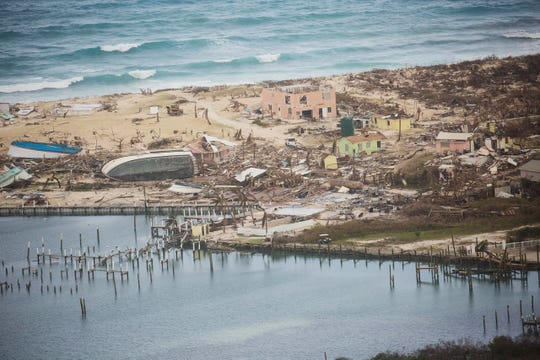 Extensive damage from Hurricane Dorian can be seen in aerial footage from the Bahamas.