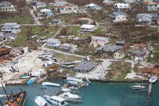 Extensive damage from Hurricane Dorian can be seen in aerial footage Sept. 4, 2019, from the Bahamas. These are scenes from the Abaco Islands.