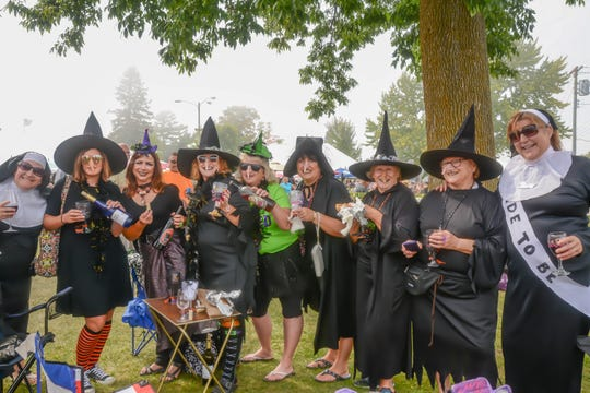 Witches and nuns find something in common - a love of wine - during Wet Whistle Wine Fest at von Stiehl Winery in Algoma. A number of the 2,000 or so guests to the festival wear costumes which aren't mandatory but definitely encouraged.