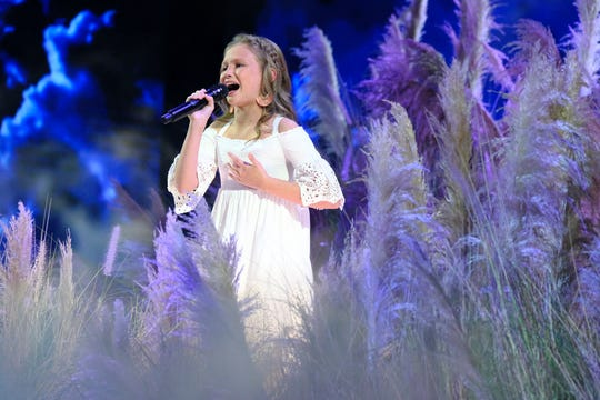 """Ansley Burns of Easley performs on NBC's """"America's Got Talent"""" Tuesday."""