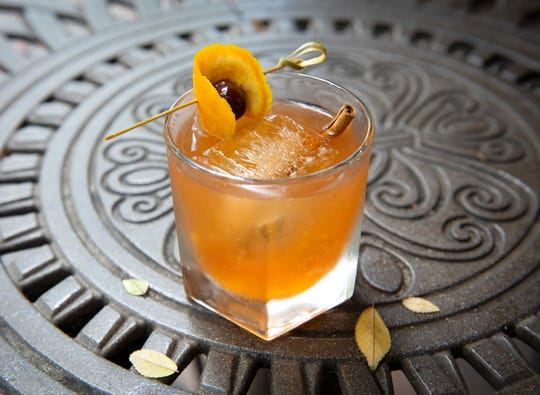 The Sweet Tea Old Fashioned from Rick Erwin's Nantucket Seafood in downtown Greenville.