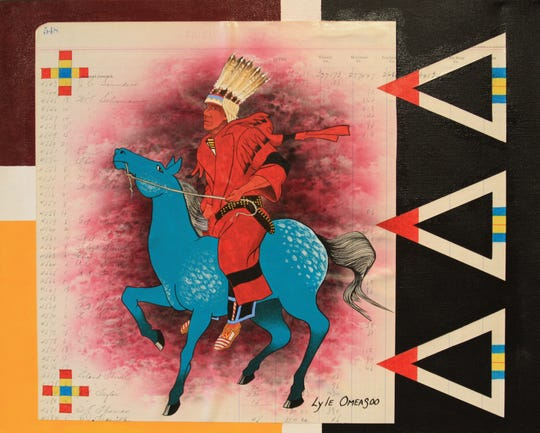 Lyle Omeasoo's Blue Pony Ledger.