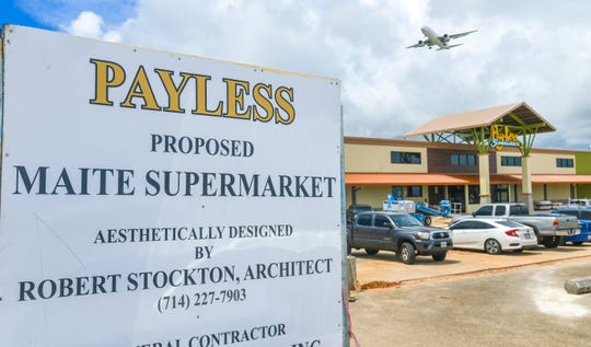 Construction work continues on the Pay-Less Supermarket in Maite, as seen on Wednesday, Sept. 4, 2019.