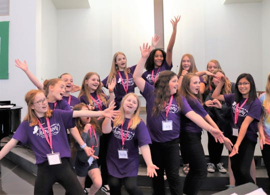 Young singers are all about expressing exuberance.