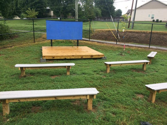 The possibilities for the new outdoor classroom at Pleasant Ridge Elementary School are endless.