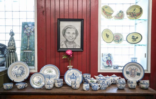The Hadley Pottery Company at 1570 Story Avenue with a portrait of M.A. Hadley, who founded the famous pottery company in 1940. Her original designs still attract fans and collected.