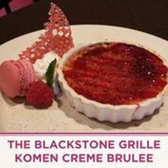 The Blackstone Grille has created the Komen Creme Brulee to help raise money to fight breast cancer.