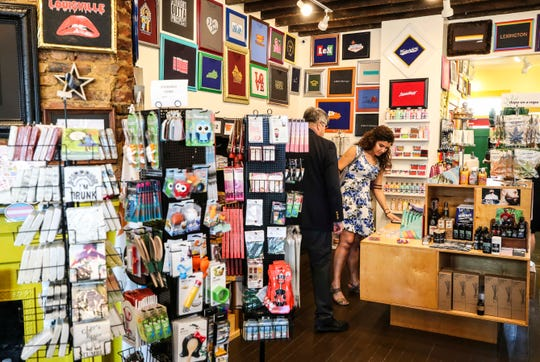LouaBull gift shop's specialty is the local giftware and T-shirts that have Louisville and Kentucky-inspired designs.