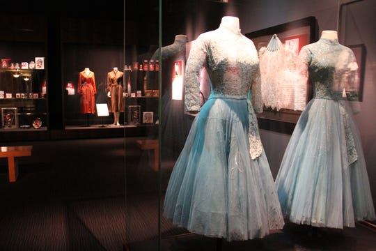 "Dresses worn by Rosemary Clooney and Vera-Ellen in the 1954 film ""White Christmas"" will be on display."