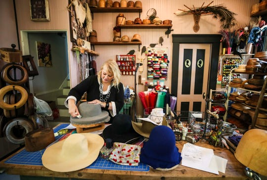Jenny Pfanenstiel of Formé Millinery on Main Street moved her business to the Butchertown neighborhood around a year ago and has loved the increased foot traffic since her last location at the Mellwood Arts Center. She designs and creates custom hats, from derby fashion to everyday head apparel for women and men.