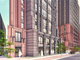 A street view of the north building. This concept package for the north building was submitted to the City of East Lansing on Aug. 14, 2019.   Developer: Core Spaces.  Architecture, Planning and Interior   Design:  Antunovich Associates