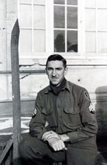Eugene Schulz during his time in the service in Germany.