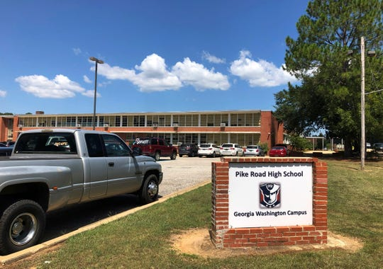 This photos shows Pike Road High School in Pike Road, Ala., Tuesday, Sept. 3, 2019. Carving out of new school districts in the South is increasingly dividing white students from their black and Latino peers, reinforcing segregation, according to a new study published Wednesday in AERA Open, a journal of the American Educational Research Association. (AP Photo/Jeff Amy)