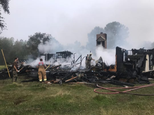 A man in rural Montgomery County allegedly set fire to his rental home after being served an eviction notice.