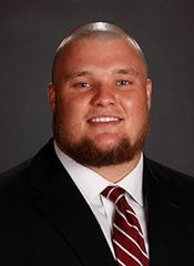Alabama redshirt sophomore offensive lineman Hunter Brannon.