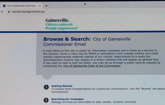 The email in box of Mayor Lauren Poe and the city commissioners are open to public view on the internet.