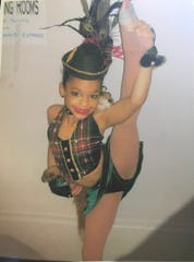 Mariah Russell, then 8 years old, dressed as a fox for a dance competition in Murfreesboro.