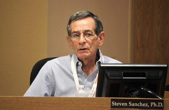 Acting Superintendent Steven Sanchez briefed the Las Cruces Board of Education and the public at the school board meeting on Tuesday, September 3, 2019.