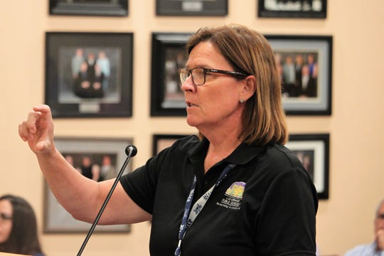 Las Cruces Public Schools Associate Superintendent of Curriculum and Instruction Wendi Miller-Tomlinson provided data on last year's student assessments and current enrollment at the school board meeting on Tuesday, September 3, 2019.